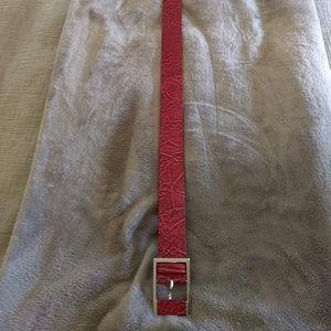 White House Black Market Accessories - White House Black Market red snake belt